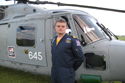 Black Cat pilot Lt AJ Thompson at Cosford Air Show 2009