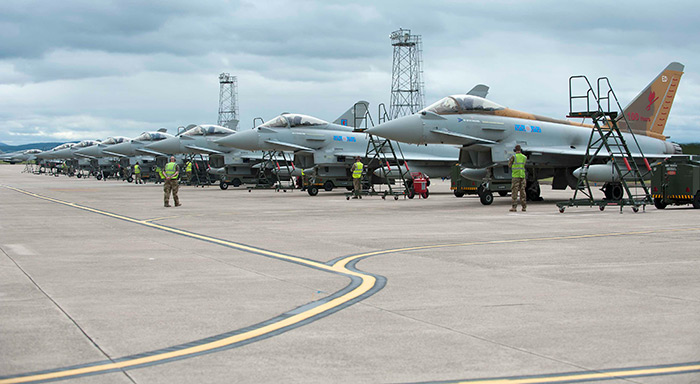No. 6 Squadron moved to its new base at RAF Lossiemouth in Scotland. No. 6 Squadron will be followed by No.1(F) squadron in September