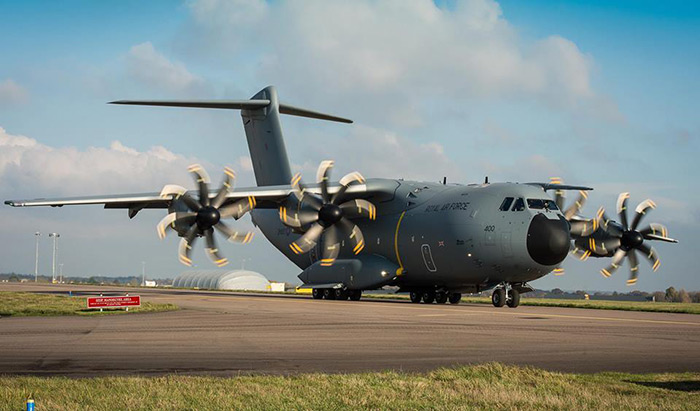 First UK A400M Atlas delivered to the RAF