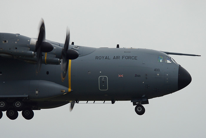 RAF Brize Norton received its first A400 Atlas ZM400 this afternoon