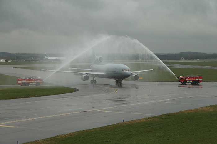 216 Squadron based at RAF Brize Norton in Oxfordshire said farewell to its TriStar aircraft