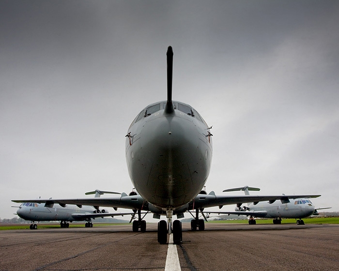 VC10 trio at Bruntingthorpe Airfield