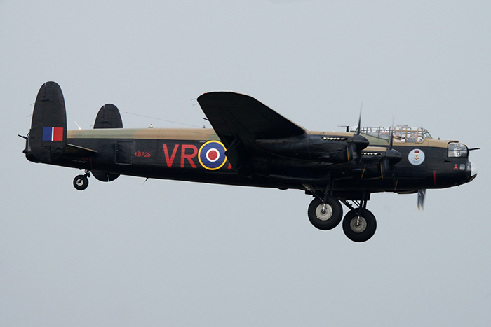The Canadian Warplane Heritage Museum Avro Lancaster X C-GVRA KB726 VR-A (Vera) arrived at RAF Coningsby in Lincolnshire