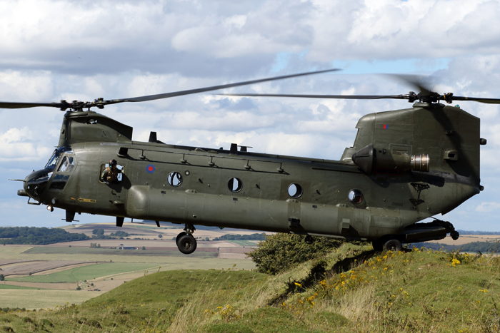 The first UK military flight of Chinook HC.6A ZH892