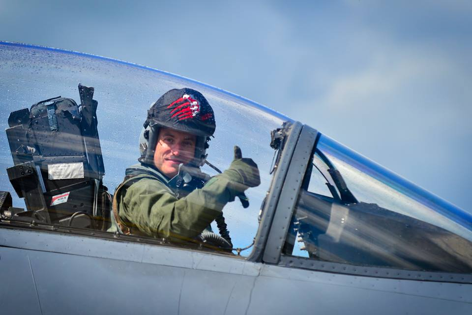 Colonol Robert Novotny Carried Out His Last Flight as the 48th Wing Commander at RAF Lakenheath - 14th July 2016