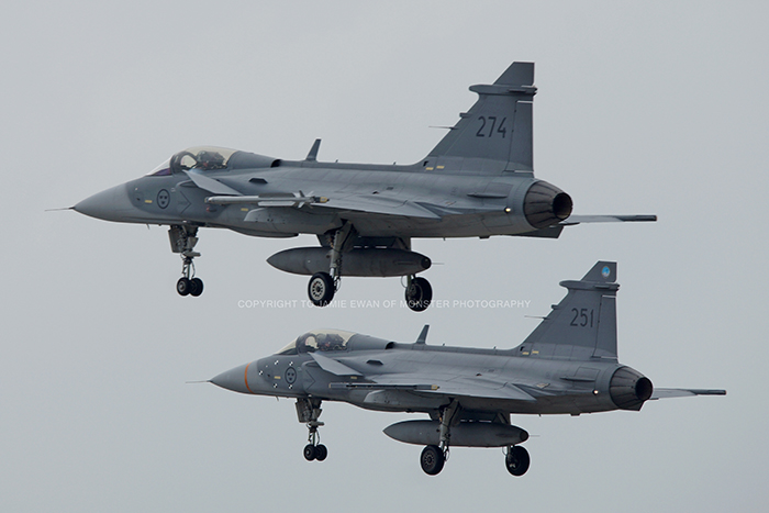 During the early part of June 2014 RAF Coningsby was hosting Gripens from the Swedish Air Force