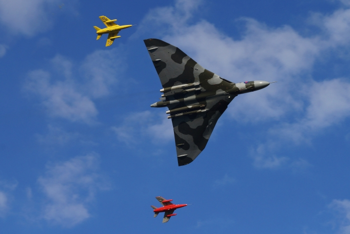Vulcan XH558 and the Gnat Display Team - 26th September 2015