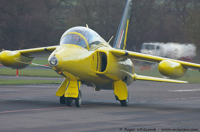 Gnat XR992 ready for flight testing at North Weald