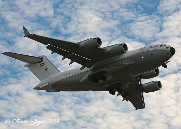 Kuwait C-17 returns from its first test flight