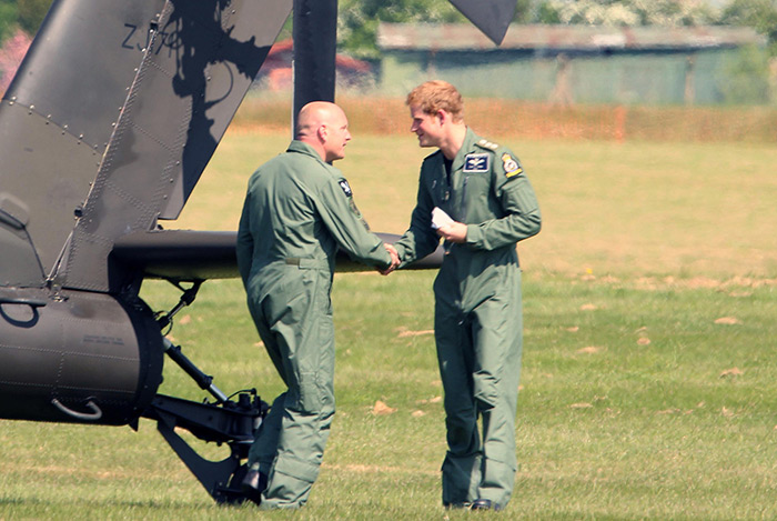 Capt Henry Wales (aka Prince Harry) and SSgt Jamie Boakes