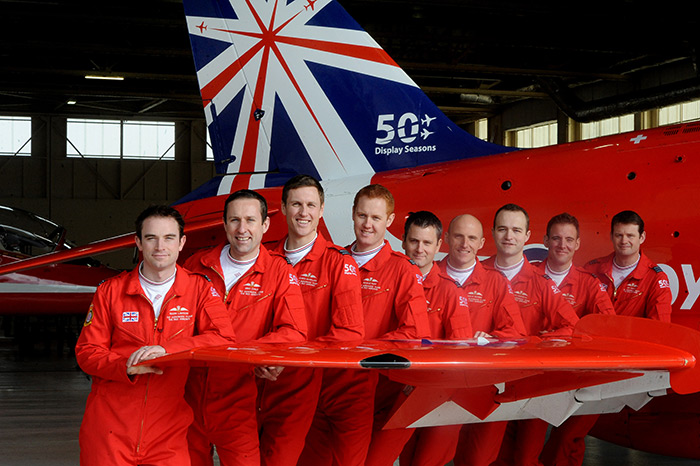 The Red Arrows unveil their 50th anniversary paint scheme - 50 Display Seasons