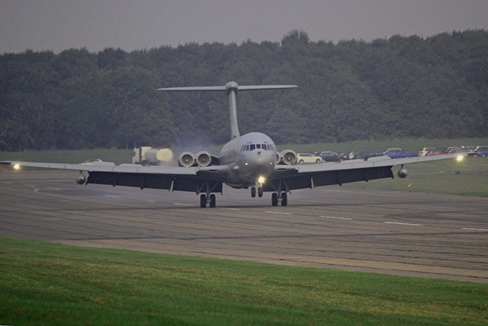 On Wednesday 25th September VC10 ZA147 was delivered to Bruntingthorpe Airfield