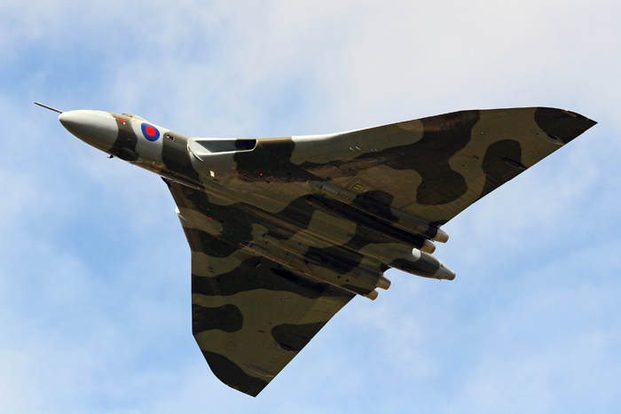 Avro Vulcan XH558 visited RAF Wyton as part of her Cold War Tour