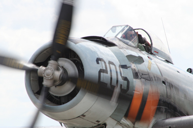 Douglas A-1 Skyraider at Duxford Flying Legends 2009