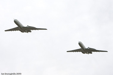 Final flight of VC10 at Bruntingthorpe Airfield