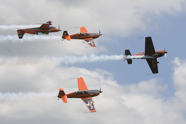 The Blades at RAF Waddington International Air Show 2009