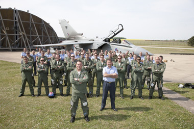 13 Squadrons final six-ship flypast at Marham