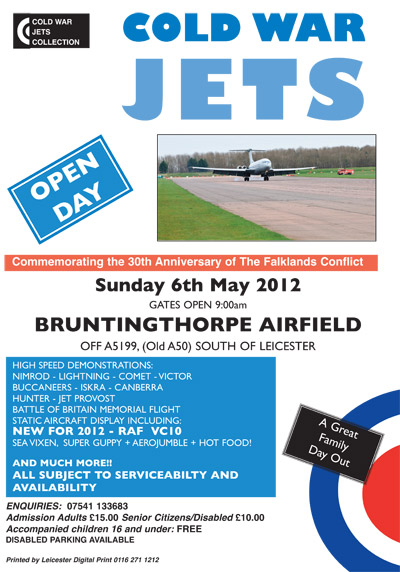 Cold War Jets - Commemorating the 30th anniversary of the Falklands Conflict - Sunday 6th May 2012 at Bruntingthorpe Airfield