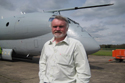 David Walton - The proud owner at the Hawker Siddeley Nimrod MR2 8001 XV226 delivery at Bruntingthorpe