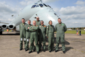 Air crew at the Hawker Siddeley Nimrod MR2 8001 XV226 delivery at Bruntingthorpe