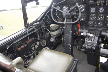 Avro Lancaster Just Jane cockpit