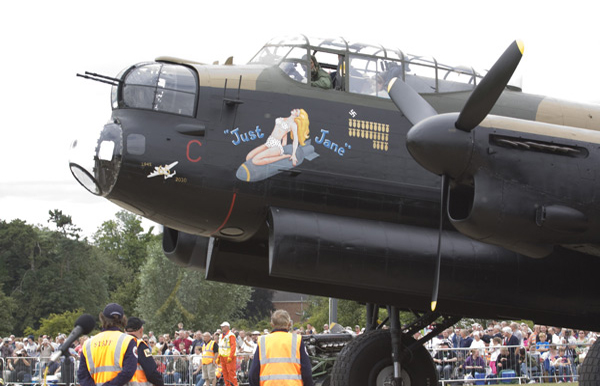 Avro Lancaster Mk VII NX611 Just Jane starting up