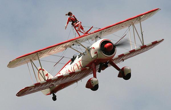 Team Guinot Wingwalker at Duxford Spring Air Show 2008
