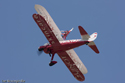 Team Guinot wing walker at Waddington Press Day 2009