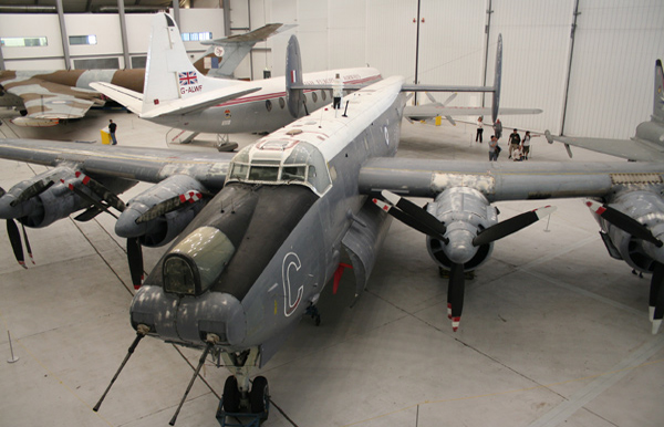Avro Shackleton MR.3/3 XF708 at Duxford AirSpace Hangar. Photo by Ross Cannon