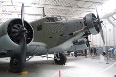 Lufthansa Junkers Ju52/3m Iron Annie in Duxford Hangar 5 - The Working Museum