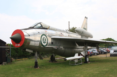 English Electric Lightning F.53 95291 53-686 (ZF592) at City of Norwich Aviation Museum
