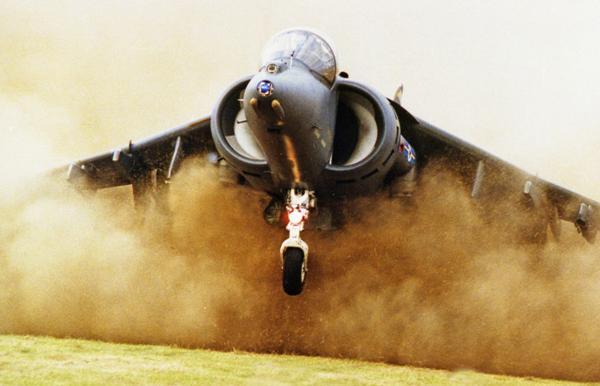Harrier Jump Jet. Photo by Bob Franklin
