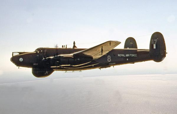 Avro 696 Shackleton AEW.2 WL757/8 of 8 Squadron RAF Lossiemouth. Photo by Mil-slides