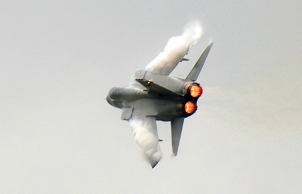 Panavia Tornado at Waddington Air Show 2008. Photo by Ian Bracegirdle