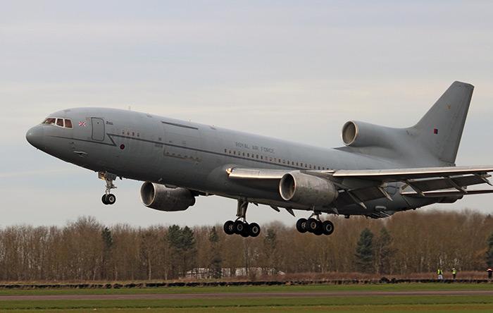 TriStar ZD953 lands at Bruntingthorpe Airfield. Photo by John Bradshaw