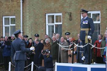 Air-vice Marshal David Walker CBE AFC the reviewing Officer at the Closing day at RAF Coltishall 2006