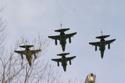 SEPECAT Jaguar 4-ship formation at the Closing day at RAF Coltishall 2006