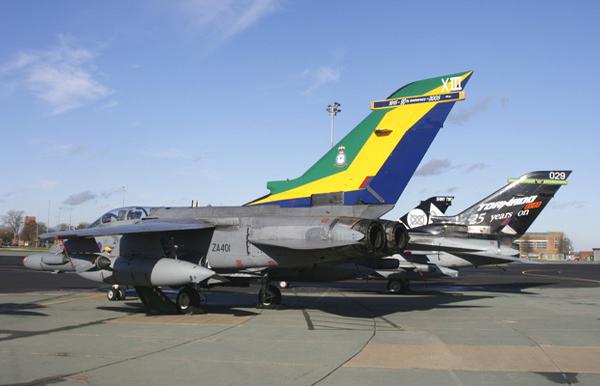 Panavia Tornados at Royal Air Force Marham. Photo by Bob Franklin