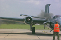 English Electric Canberra T4 WJ874/VN799 (painted in blue paint scheme) engine starting up