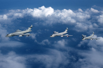 Handley Page Victor three-ship formation